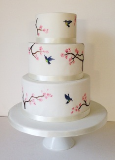 Hand Painted Wedding Cakes Scotland