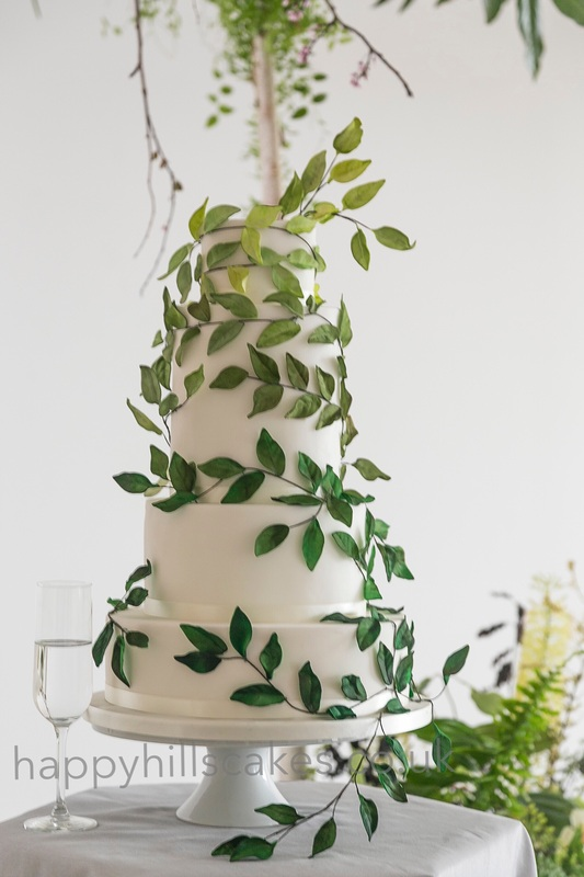 Happyhills Cakes Green Ombre Sugar Leaves